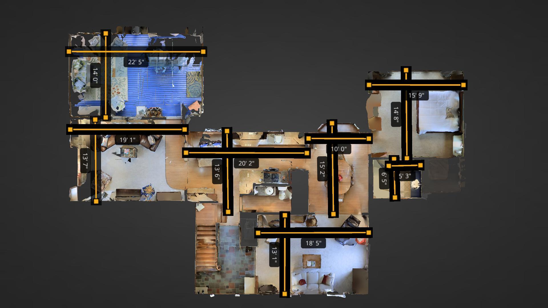 3D tours w/room measurements!