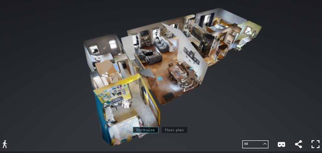 3D tour Dollhouse View